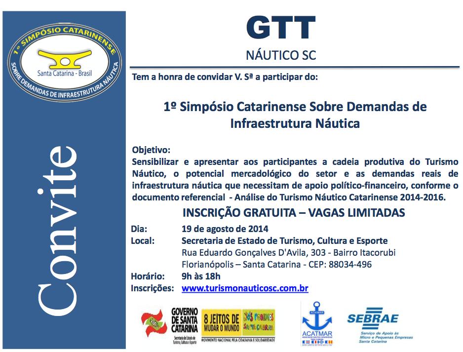 A ADREL participará do 1º Simpósio Catarinense Sobre Demandas de Infraestruturas Náuticas